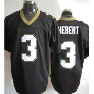 Bobby Hebert Black Stitched Throwback Jersey
